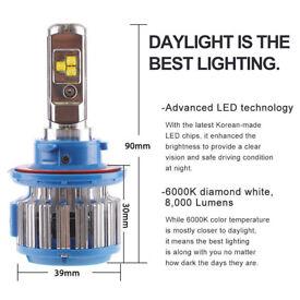 Headlight Kit 40W 4000LM H13 Led Bulb Light Fog Light Driving Cool White Light