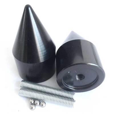 (Black CNC Billet Spike Bar Ends For 1999-2012 2010 2011 Suzuki Hayabusa GSX1300R)