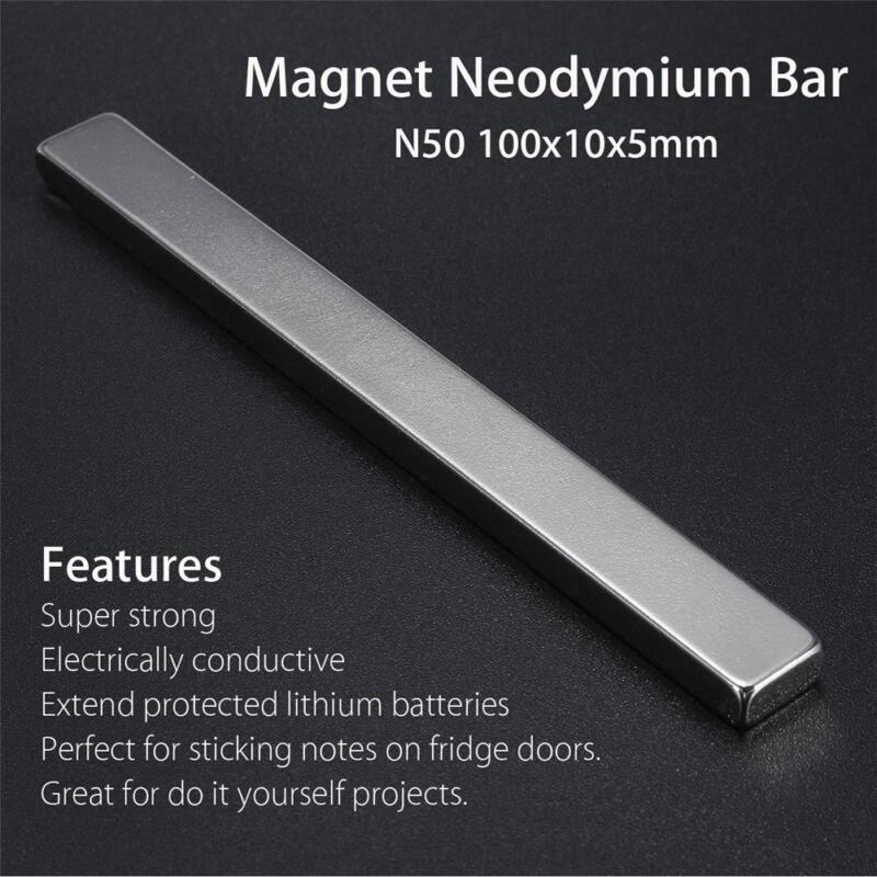 25mm x 8mm x 2mm Very Strong Bar Neodymium Block Magnet N35 Grade
