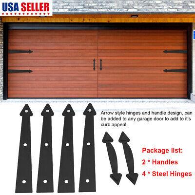 Carriage House Garage Door Decorative Hardware Set -Arrow Style Hinges & Handles