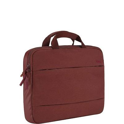 "Incase City Brief 13"" Laptop Tablet Macbook Shoulder Case Bag Deep Red"