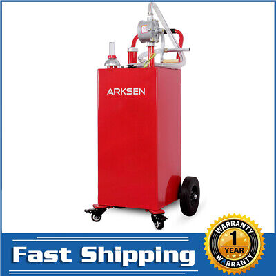 New 35 Gallon Gas Fuel Diesel Caddy Transfer Portable Tank Wpump Container Red