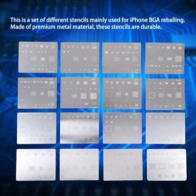 16pcs Ic Chip Bga Reballing Stencil Kits Set Solder Template For Iphone Gb