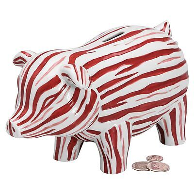 What On Earth Exclusive Bacon Piggy Bank - Handpainted Porcelain