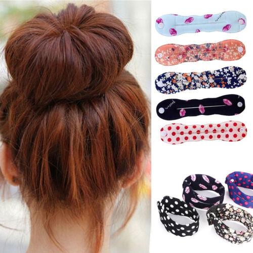 Women Girls Sponge Hair Twist Styling Clip Stick Bun Maker Braid Magic Tool NEW