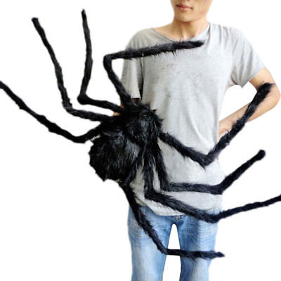 Black Spider Halloween Decoration Haunted House Prop Indoor Outdoor Wide 75cm - Halloween Decoration Indoor