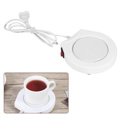 (110V White Electric Powered Cup Warmer Heater Pad Coffee Tea Milk Mug)