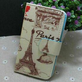 Paris Eiffel Tower Moulin Rouge Yellow Cream Brown Blackview A60 Mobile Case.