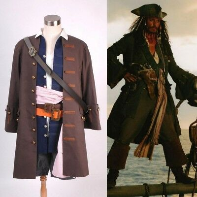 Pirates of the Caribbean Captain Jack Sparrow Cosplay (Captain Jack Sparrow Cosplay Kostüm)