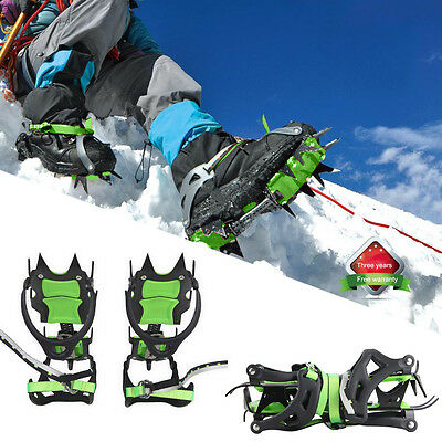 Winter 14-Teeth Pro Ice Snow Ant Slip Gripper Bundled Crampon for Cleats Shoes
