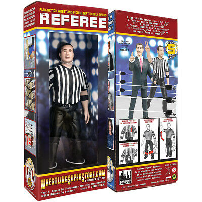 Three Counting & Talking Wrestling Referee Action Figure For WWE Action - Wwe Wrestling Toys
