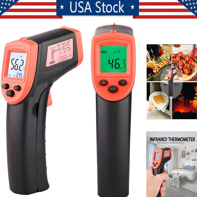 Digital No-touch Lcd Ir Laser Industrial Infrared Temperature Thermometer Gun Us