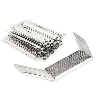 50x File Fasteners Binder Clip Paper Prong Fastener Binding Clamp Hole Pitch