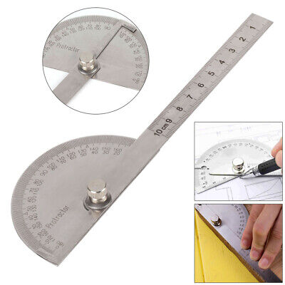 Stainless Steel 180 Degree Protractor Angle Finder Ruler Rotary Measuring -