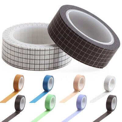 Grid Japanese Paper Washi Tape Set for Planner Scrapbooking Bujo Masking Decor Japanese Washi Paper Tape