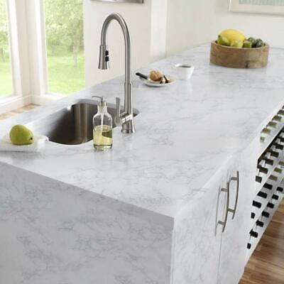 Marble Contact Paper Gloss Vinyl Self-Adhesive Marble Sticker Kitchen Cabinet US