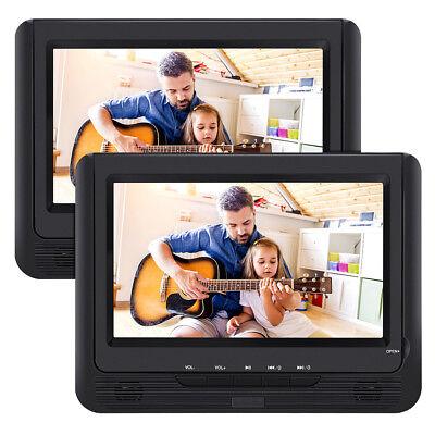 9 Zoll KFZ 2 TFT Monitore Tragbarer DVD Player mit zusätzlichem Bildschirm Akku