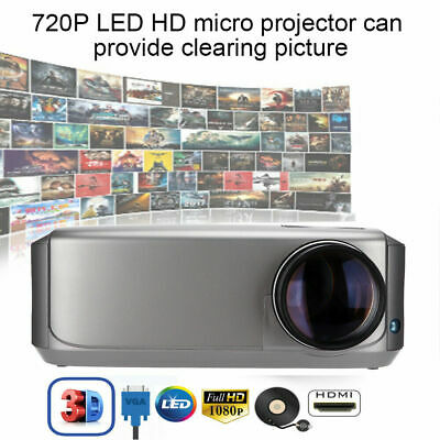 3500 Lumens Uhappy LED 1080P Projector Home Cinema Multimedia HDMI/USB/TV/VGA/AV