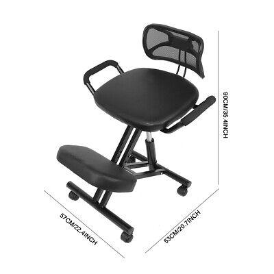 Ergonomic Kneeling Chair Adjustable Posture Correction Knee Stool With Back