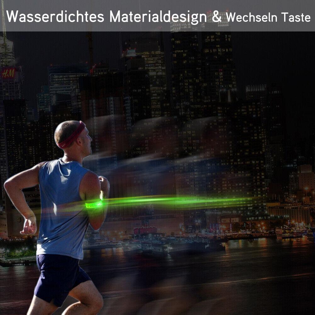 2er Led Arm Band Leuchten für Radfahren Joggen Laufen Wandern Sport Flashing