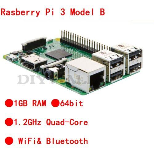 2016 Raspberry Pi 3 Model B Quad Core 1.2GHz 64bit CPU 1GB RAM WiFi Bluetooth
