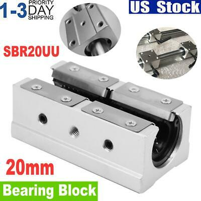 Sbr20luu 20mm Open Linear Bearing Slide Block Linear Motion Ball Cnc Router Part
