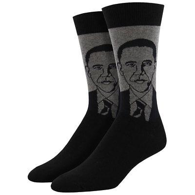 Socksmith Men's Crew Socks 44th President Barack Obama Historic Novelty Footwear