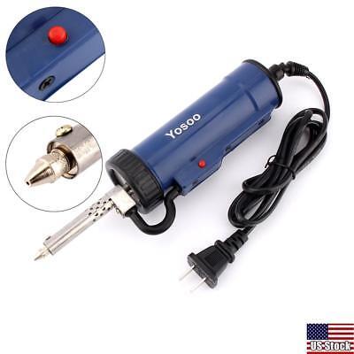 New 30w 220v 50hz Electric Vacuum Solder Sucker Desoldering Pump Blue