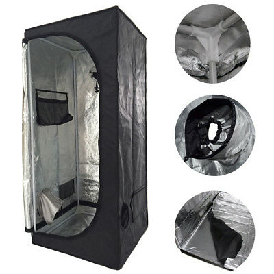 NEW 60X60X140 Grow Tent Bud Dark Green Room Hydroponics Box Mylar Silver!!