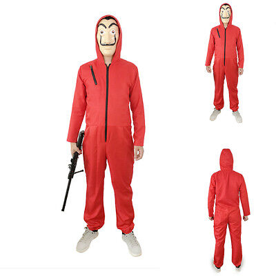 La casa De Papel Cosplay Costume Suit Salvador Dali Money Heist Hoodie Jumpsuit