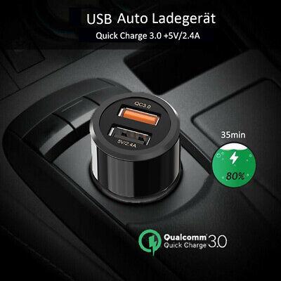 Mini USB Auto Ladegerät QC3.0 Charger KFZ Zigarettenanzünder Steckdose Adapter Mini Auto Usb