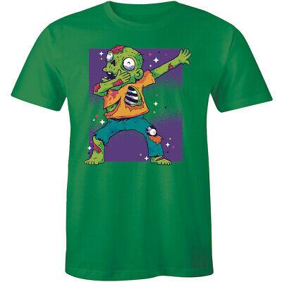 Funny Vintage Dab Dance Dabbing Zombie Halloween Costume Fun Men's T-Shirt Space