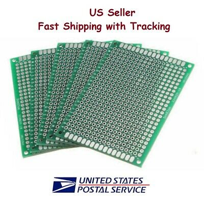 5 Pcs 5x7 Cm Prototype Perf Pcb Double Sided Matrics - Us Seller Fast Shipping