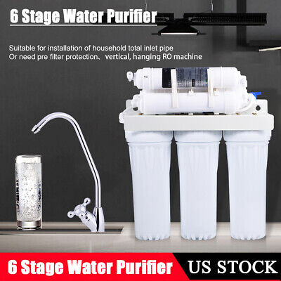 Premium 6 Stages undersink RO Reverse Osmosis Water Filter System Purifier Kit