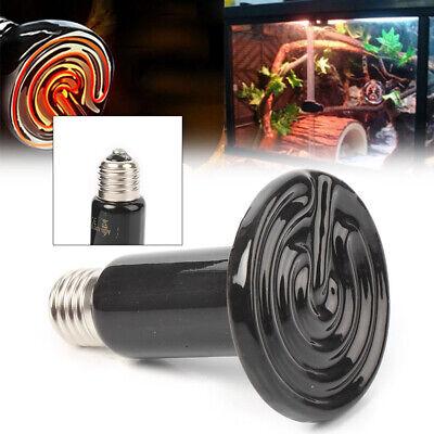 150W Watt Ceramic Heat Emitter Infrared Lamp Bulb Reptile Pet Brooder Black
