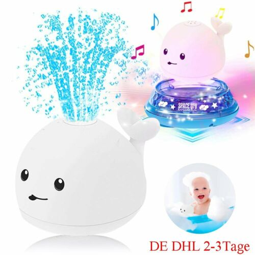 2 In 1 Kinder Baby Badespaß Badewannen-Spielzeug Whale Spray Induction Spielzeug