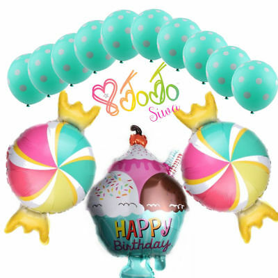 13 x JOJO SIWA PARTY CANDY ICE CREAM FOIL BALLOONS BIRTHDAY SUPPLIES DECOR  - Ice Cream Supplies