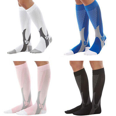 Men Women Breathable Running Sports Leg Support Compression Stretch Socks Well Health & Beauty