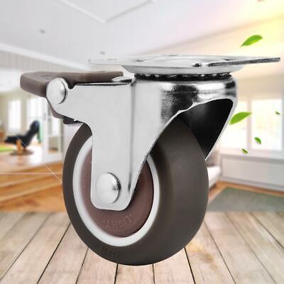 4pcs Swivel Caster Wheels Heavy Duty Furniture Mute Soft Rubber Casters 150kg