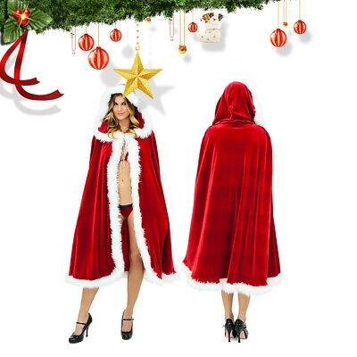 Winddicht Weihnachtsmann Kostüm Umhang Weihnachts Männer Frau - Männer Weihnachts Kostüm