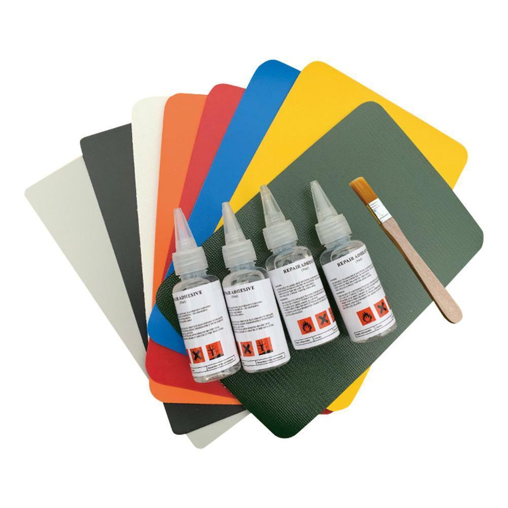 4pcs PVC Inflatable Boat Repair Patch Glue Kit Adhesive Cano