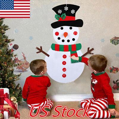 Christmas Gifts Children Kids DIY Felt Snowman Set Christmas Decorations Toys US