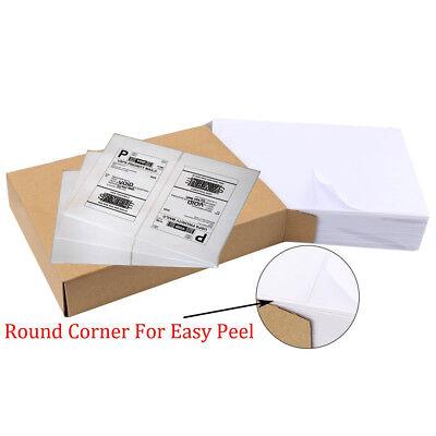 1000 8.5 X 5.5 Half Sheet Round Corner Shipping Labels Self Adhesive Us Stock