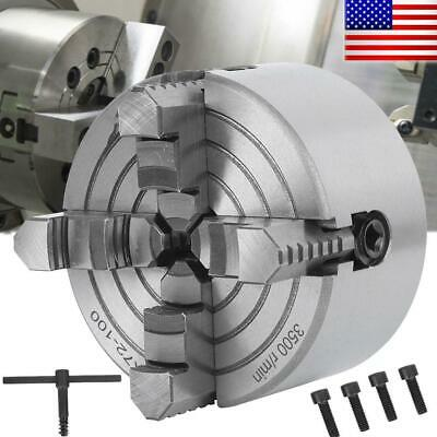 K72 4 4 Jaw Lathe Chuck Independent Milling Machine 4 Inch Workholding Tool