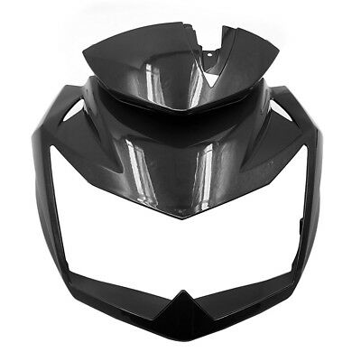 Upper Front Head Fairing Headlight Cowl Nose For kawasaki Z750 2007 - 2012 Black, used for sale  China