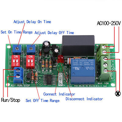 Ac 100v-250v Adjustable Infinite Cycle Timer Delay Onoff Switch Relay Module Gd