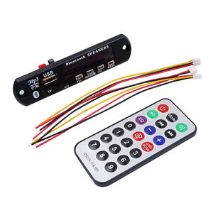 1Pcs-Coche-Bluetooth-MP3-WMA-decodificador-Board-12V-Inalambrico-de-audio-USB-TF
