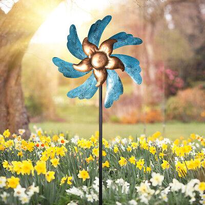 Garden Decor Wind Spinner Metal Sculpture Ornament Weatherproof Outdoor Yard