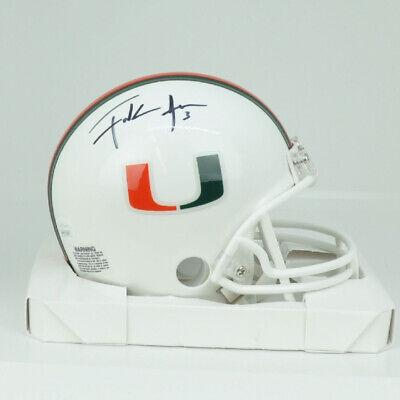 GTSM Hologram Roscoe Parrish signed Miami Hurricanes Riddell NCAA Mini Helmet