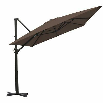 Abba Patio 8 x 10 Feet Rectangular Cantilever Umbrella with